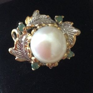 Breathtaking Genuine Natural Pearl Ring